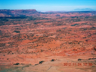4 83q. aerial - flight to Monument Valley