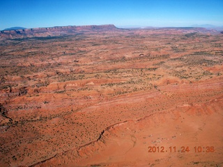 6 83q. aerial - flight to Monument Valley