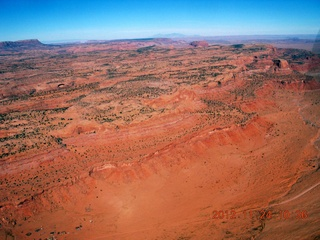 7 83q. aerial - flight to Monument Valley