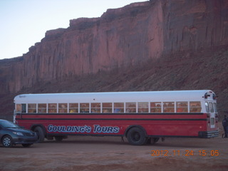 70 83q. Monument Valley tour - busload of Japanese tourists