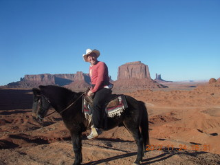 94 83q. Monument Valley tour - Adam on horseback at John Ford point