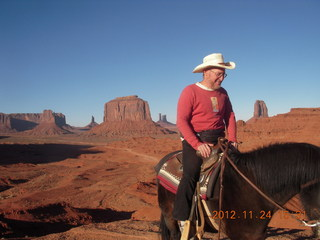 95 83q. Monument Valley tour - Adam on horseback at John Ford point