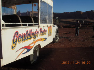 172 83q. Monument Valley tour - our tour vehicle and Sean