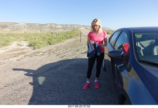 16 9sl. Rock Springs - Kim after our run