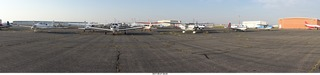 24 9sm. Riverton Airport - airplanes in panorama