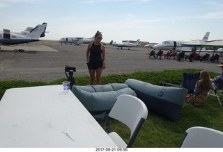 48 9sm. Riverton Airport - inflatable eclipse-watching chairs-beds